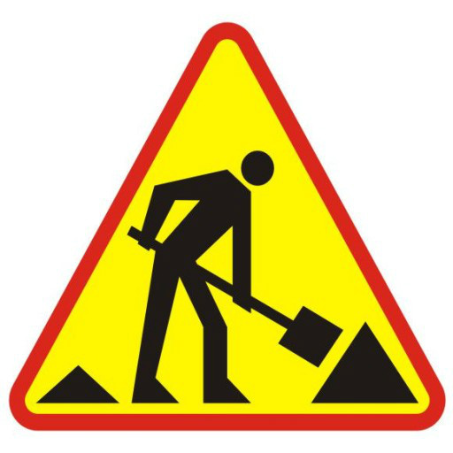 znak drogowy utrudnienia