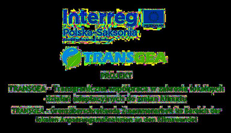 Logosy programu finansującego wydarzenie - Interreg, Transgea