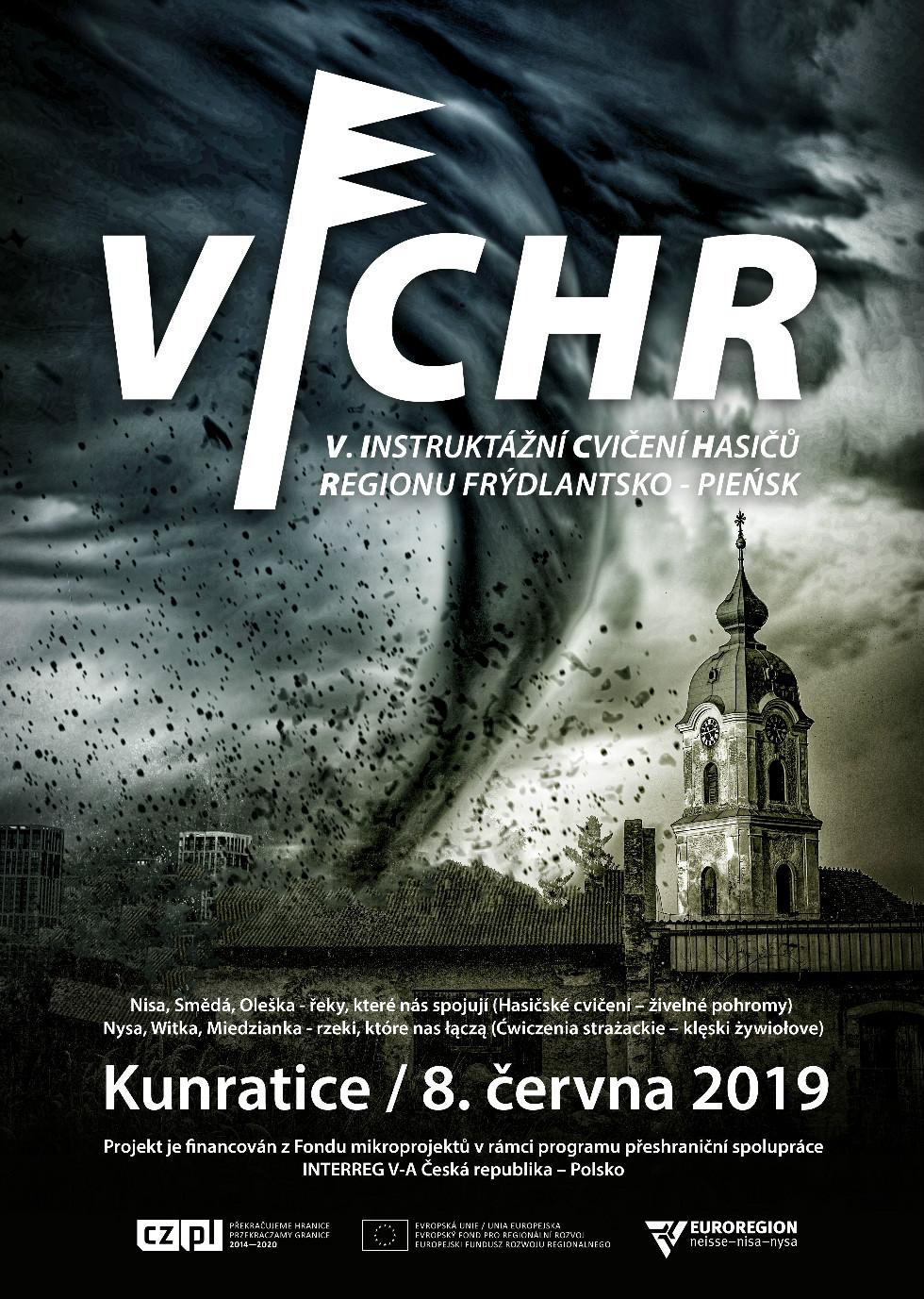 Plakat o ćwiczeniach OSP - VICHR